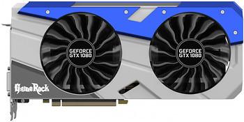 Фото Palit GeForce GTX 1080 GameRock Premium Edition + G-Panel 8GB 1885MHz (NEB1080H15P2-1040G-P)