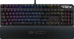 Фото Asus TUF Gaming K3 Brown Switch RU Black USB (90MP01Q1-BKRA00)