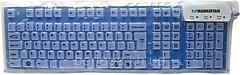 Manhattan Roll-Up Keyboard 177573 Blue USB