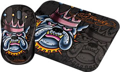 Ed Hardy Wired Mouse+pad King Dog Black USB