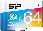 Фото Silicon Power Elite Color microSDXC Class 10 UHS-I U1 64Gb