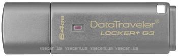 Фото Kingston DataTraveler Locker+ G3 64 GB (DTLPG3/64GB)