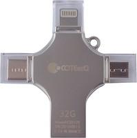 Фото Coteetci 4-in-1 Zinc Alloy iUSB 32 GB (CS5129-32G)