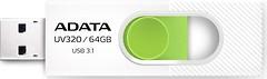 Фото ADATA UV320 White-Green 64 GB (AUV320-64G-RWHGN)