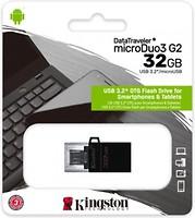 Фото Kingston DataTraveler Micro Duo 3 G2 32 GB (DTDUO3G2/32GB)