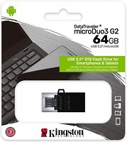 Фото Kingston DataTraveler Micro Duo 3 G2 64 GB (DTDUO3G2/64GB)
