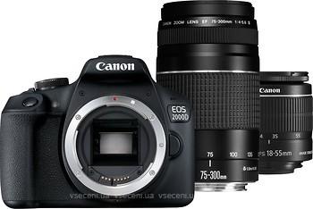 Фото Canon EOS 2000D Double Kit 18-55 75-300