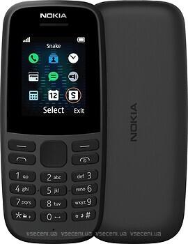 Фото Nokia 105 (2019) Black Single Sim