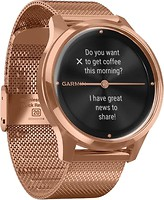 Фото Garmin Vivomove Luxe 18K Rose Gold PVD Stainless Steel Case with Rose Gold Milanese Band