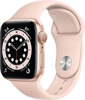 Фото Apple Watch Series 6 GPS 40mm Gold Aluminum Case with Pink Sand Sport Band (MG123)