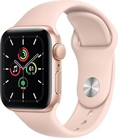 Фото Apple Watch SE GPS 40mm Gold Aluminum Case with Pink Sand Sport Band (MYDN2)