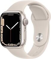 Фото Apple Watch Series 7 GPS 41mm Starlight Aluminum Case with Starlight Sport Band (MKMY3)