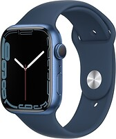 Фото Apple Watch Series 7 GPS 45mm Blue Aluminum Case with Abyss Blue Sport Band (MKN83)
