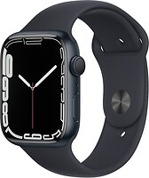 Фото Apple Watch Series 7 GPS 45mm Midnight Aluminum Case with Midnight Sport Band (MKN53)