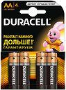 Фото Duracell AA Alkaline 4 шт Basic (81404815/81267331)