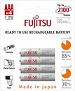 Фото Fujitsu AAA 750mAh NiMh 4 шт (HR-4UTC)