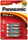 Фото Panasonic AAA Alkaline 4 шт Pro Power (LR03XEG/4BP)