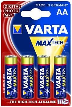 Varta AA Alkaline 4 шт Max Tech (04706101404)