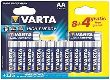 Varta AA Alkaline 8+4 шт High Energy (04906121472)