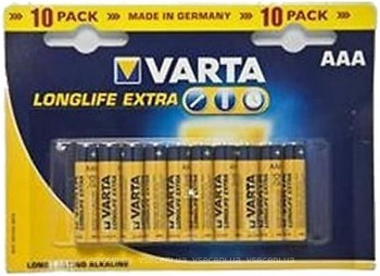 Varta AAA Alkaline 10 шт LongLife Extra (04103101461)