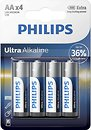 Фото Philips AA Alkaline 4 шт Ultra Alkaline (LR6E4B/10)
