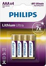 Фото Philips AAA Lithium 4 шт Lithium Ultra (FR03LB4A/10)