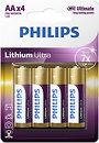 Фото Philips AA Lithium 4 шт Lithium Ultra (FR6LB4A/10)