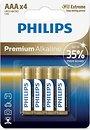Фото Philips AAA Alkaline 4 шт Premium Alkaline (LR03M4B/10)