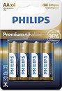 Фото Philips AA Alkaline 4 шт Premium Alkaline (LR6M4B/10)