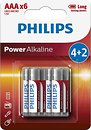 Фото Philips AAA Alkaline 6 шт Power Alkaline (LR03P6BP/10)