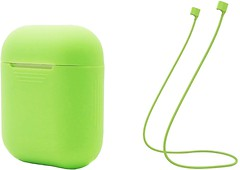 Фото ArmorStandart Silicone Case with Strap for Apple AirPods Green (ARM51013)