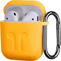 Фото 2E Pure Color Imprint Silicone Case 1.5 mm for Apple AirPods Yellow (2E-AIR-PODS-IBSI-1.5-YW)