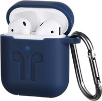 Фото 2E Pure Color Imprint Silicone Case 3.0 mm for Apple AirPods Navy (2E-AIR-PODS-IBPCSI-3-NV)