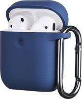 Фото 2E Pure Color Silicone Case 3.0 mm for Apple AirPods Navy (2E-AIR-PODS-IBPCS-3-NV)
