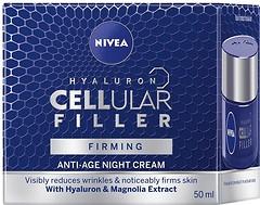 Фото Nivea антивозрастной ночной крем для лица Hyaluron Cellular Filler Night Cream 50 мл