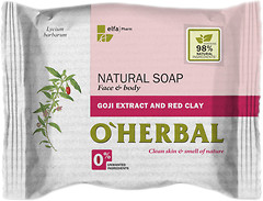 Фото O''Herbal натуральное мыло Natural Soap Экстракт годжи и красная глина 100 г