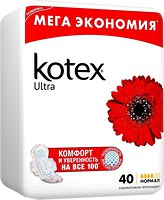 Фото Kotex Ultra Dry Quadro Normal 40 шт