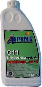 Фото Alpine C11 Kuhlerfrostschutz Readymix -36 Green 1.5 л