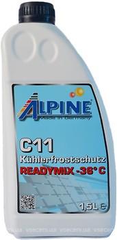 Фото Alpine C11 Kuhlerfrostschutz Readymix -36 Blue 1.5л
