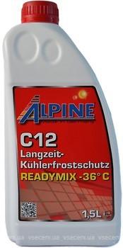 Фото Alpine C12 Langzeitkuhlerfrostschutz Readymix -36 Red 1.5л