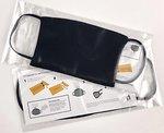 Фото Маска медицинская защитная многоразовая с отделением для антибактериальных фильтров Черная 1 шт