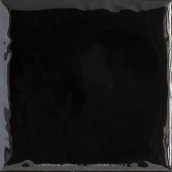 Фото Ceramika Paradyz плитка настенная Tamoe Ondulato Nero 9.8x9.8