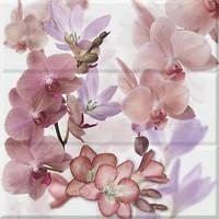 Фото Absolut Keramika декор-панно Orchides Composicion Berenjena 45x45 (комплект 3 шт)