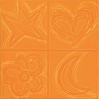 Фото Pamesa декор Agatha Cuatro Relieve Naranja 20x20