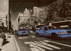 Фото Атем декор-панно Vitel Taxi 2 BL 40x55 (комплект 2 шт)