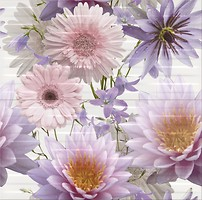 Фото Opoczno декор-панно Chinese Asters Flowers 59.4x60 (комплект 2шт)
