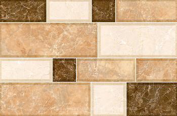 Фото Inter Cerama плитка настенная Grani светло-коричневая 23x35