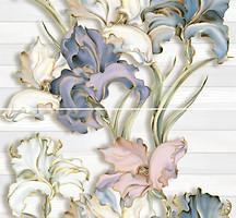 Фото Inter Cerama декор-панно Batik серый 46x50 (комплект 2 шт)