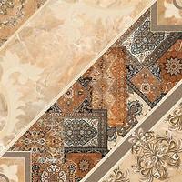Фото Inter Cerama плитка напольная Carpets темно-коричневая 43x43
