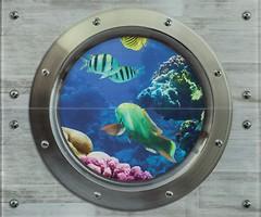 Фото Ceramika Color декор-панно Modern Wall Dekor Szklanay Rybki 50x60 (комплект 2 шт)